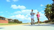 Young Couple Enjoying Jogging Exercise