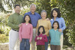 Three generations of an Asian family