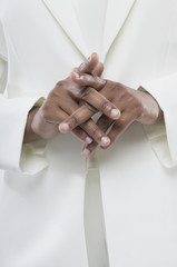 Close up of African woman's hands