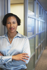 African American businesswoman at office