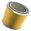Car engine air filter. 3D render.