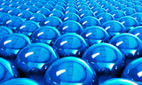 Fototapety Blue reflection balls background