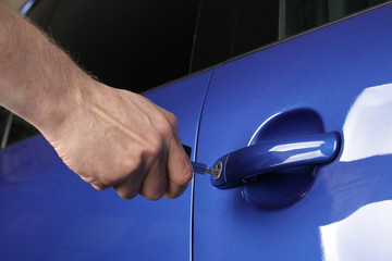 Unlocking a car door