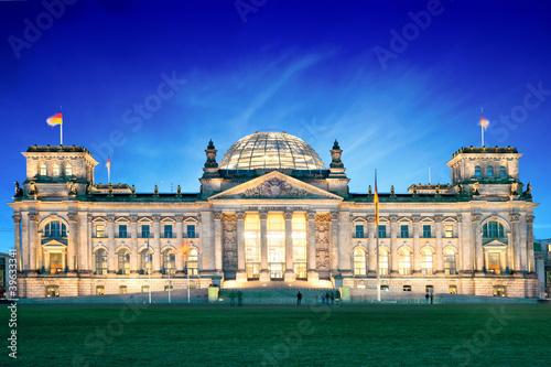 Leinwandbild Motiv Reichstag de Berlin - Allemagne