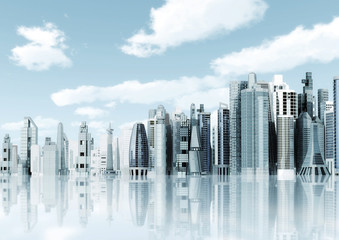 Modern architectural city building background.