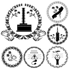 chernobyl label symbol silhouette