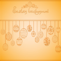 easter egg engraving background