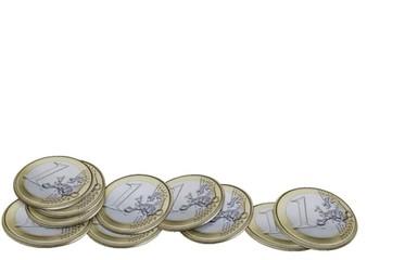 moneta da 1 euro si aggiunge ad altre monete