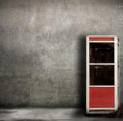 vecchia cabina del telefono