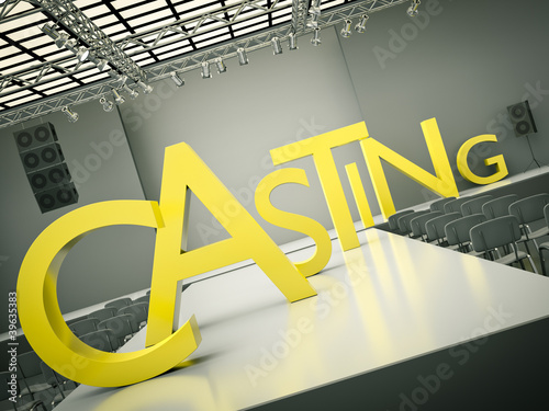 Fashion casting concept. 3D rendered image
