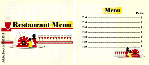 menu restaurant  design