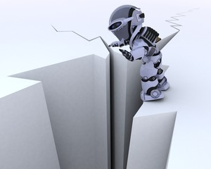 robot on a cliff edge