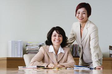 Portrait of businesswomen in conference room