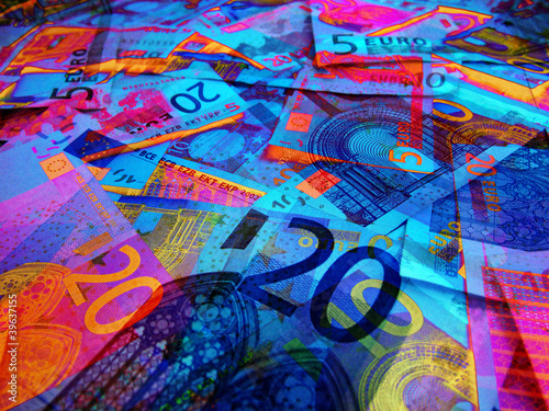 abstract euro currency