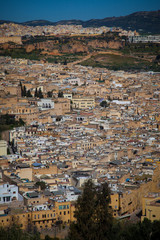 Panorama detail of the Fes (Fez), Morocco (2)