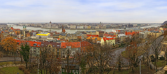 Panoramic view of Budapest city, Hungary