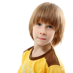 boy little isolated on white background