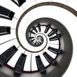 Clavier de piano, spirale