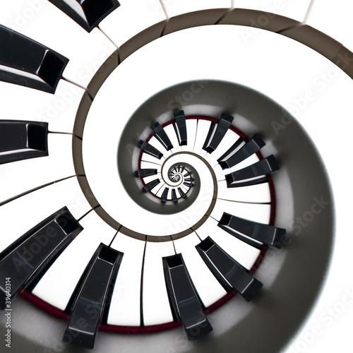 Clavier de piano, spirale © Delphotostock