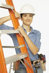 Portrait of Hispanic female construction worker