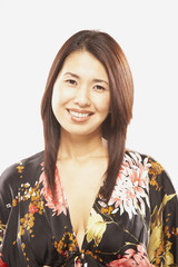 Portrait of Asian woman wearing floral top