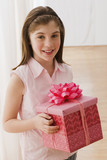 Irish girl holding gift