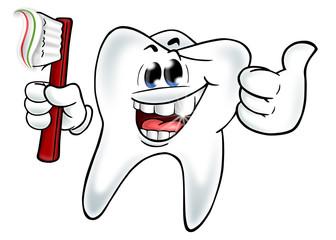Lächelnder Zahn