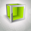 Background with cube