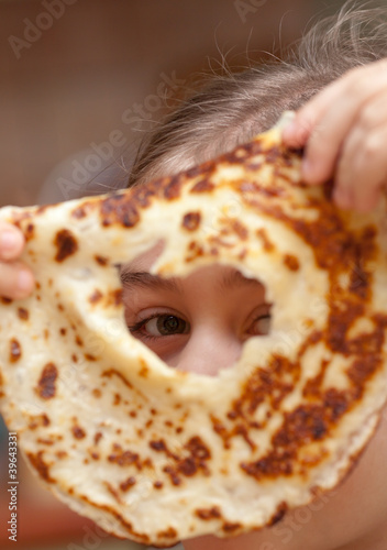 Look through the hole in pancake