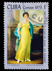 "CUBA - CIRCA 1973: A stamp printed by CUBA, j.k. Rossler, ""amali"