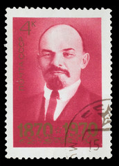 USSR - CIRCA 1970: A Stamp printed in USSR, shows portrait of le