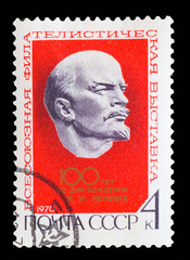 USSR - CIRCA 1970: A Stamp printed in USSR, shows 100 years from