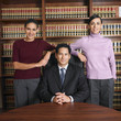 Multi-ethnic lawyers in office