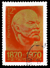 USSR - CIRCA 1970: A Stamp printed in USSR, showsportrait of lea