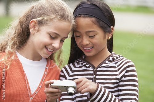 Multi-ethnic girls looking at camera