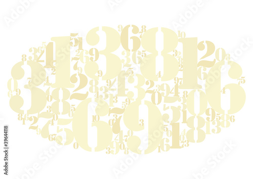 Numbers cloud gold