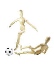 Wood Puppets Soccer Duel