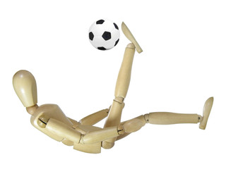 Wood Puppet Overhead Kick