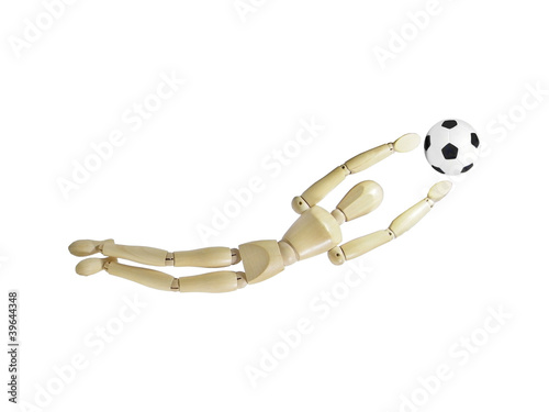 Wood Puppet Goalkeeper