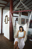 South American woman in hammock