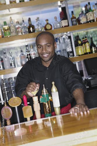 Portrait of male bartender