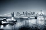 New York City Manhattan downtown black and white