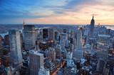Fototapety New York City sunset