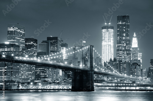 Fototapety, obrazy : New York City Brooklyn Bridge