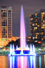 Fountain closeup in Orlando