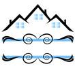 Houses ornaments logo