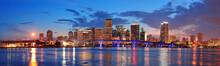 """Постер, картина, фотообои """"Miami night scene"""""""