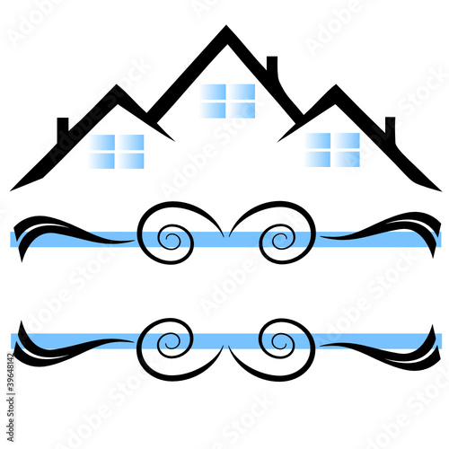 Houses ornaments logo