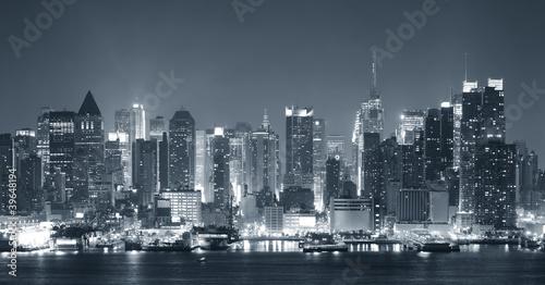 New York City nigth black and white