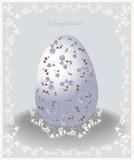 Illustration of Easter eggs. Illustration lace.